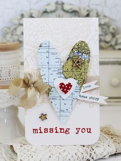 Missing You Card by Melissa Phillips for Papertrey Ink (July 2016)