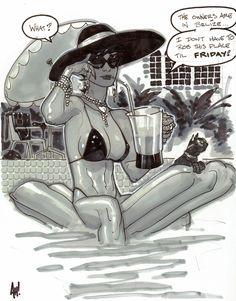 Selina Kyle / Catwoman by Adam Hughes Adam Hughes, Comic Book Artists, Comic Artist, Comic Books Art, Gotham City, Catwoman Selina Kyle, Batman And Catwoman, Batgirl, Comic Kunst
