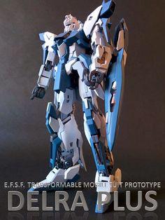 MG 1/100 Delta Gundam Plus Buke/White - Customized Build