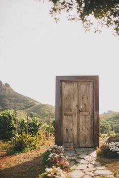 The wedding door: http://www.stylemepretty.com/2014/12/17/rustic-elegance-malibu-wedding/ | Photography: Heidi Ryder - http://heidiryder.net/ -repinned from Los Angeles County, California officiant https://OfficiantGuy.com #weddingslosangeles #laofficiant