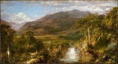 The Heart of the Andes  Frederic Edwin Church  1859  Metropolitan Museum of Art, New York City, NY, USA  The Hudson River School was an American art movement in the mid-19th century, wherein artists took a romantic approach to untouched landscapes, most prominently the Hudson River Valley, the Catskills, the Adirondacks and the Berkshires. As the movement gained in popularity among art collectors, and combined with literary artists such as Thoreau and Emerson, the idea of conservation began…