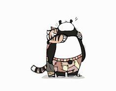 Tigress and Po from Kung Fu Panda ~ 10 minutes in iPad Sketches