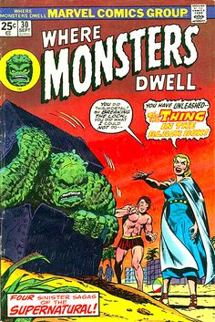 You Have Unleashed The Thing In The Black Box! - Where Monster Dwell #30 Cover Art by John Romita Sr