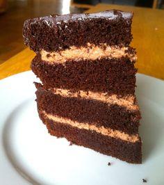 No Joke Dark Chocolate Cake - zenbelly