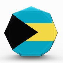 Flag of the Bahamas Award flag, nation, banner, award, gift, acrylic, octagon, country, zazzle, smallbiz, ecommerce, dww25921