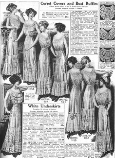Underclothes, 1912 Sears Catalog