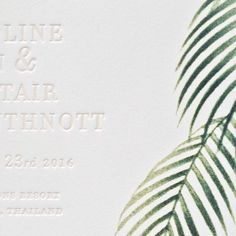 Tropical Save-the-Date / Paper & Type