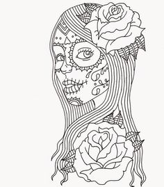 Day of the Dead Coloring Pages by Heather Fonseca | coloring pages ...
