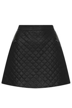 Black Quilted Aline Skirt