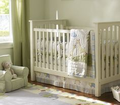 $399 Kendall Low-Profile Fixed Gate Crib | Pottery Barn Kids