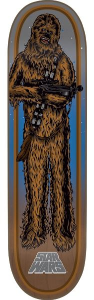 "Santa Cruz Star Wars Chewbacca Skateboard Deck - 8.26"" x 31.7"""