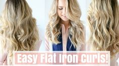 wrap around first, clip, pull thru // also: don't clamp too tightly // How to: Easy Flat Iron Curls (No Twisting!)
