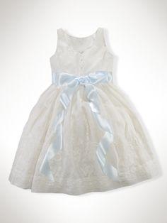 Embroidered Linen Dress - Girls 7-16 Dresses & Rompers - RalphLauren.com