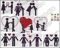 Cross Stitch Heart, Cross Stitch Cards, Cross Stitching, Cross Stitch Embroidery, Wedding Cross Stitch Patterns, Cross Patterns, Loom Patterns, Stitch Book, Le Point