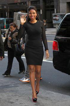 Jennifer Hudson Clothes Short Skirts, Short Dresses, Jennifer Hudson, Summer Skirts, Body Shapes, Most Beautiful, High Neck Dress, Celebs, My Style