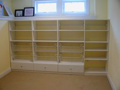 Possible basement storage idea.