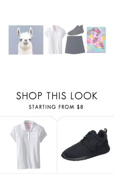 """""""- skips into guided reading, folder in hand - / junior"""" by kayadakat ❤ liked on Polyvore featuring Nautica, NIKE and My Little Pony"""