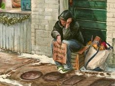 William Mangum has painted an honor card, which is like a Christmas card that benefits the homeless and needy, each year for the past 24 years.