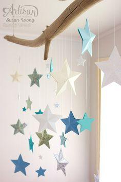 Stars Over-the-Table Christmas Mobile ~ Susan Wong