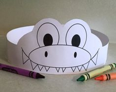 Giraffe Paper Crown COLOR YOUR OWN Printable by PutACrownOnIt