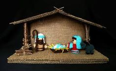 Image result for diy nativity stable