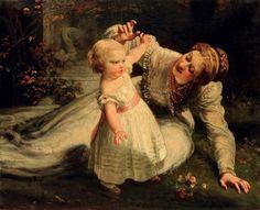 """""""Les premiers pas"""" [First Steps] -- by James Sant (British, 1820–1916) *"""
