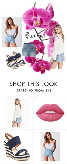 """""""colectii summer"""" by grosu-mihaela on Polyvore featuring H&M, Lime Crime, French Blu, BDG and LE3NO"""
