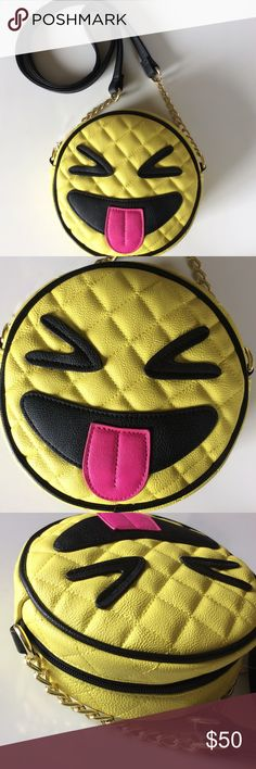 Squint Face Emoji Crossbody NWT Sold Out Bag! Betsey Johnson Bags Crossbody Bags