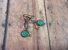 Soaring swallow with patina nest dangle earrings by avintagetwist