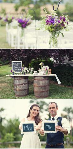 love the wine barrels!