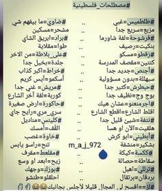 مصطلحات فلسطينية