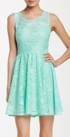 Crochet Sweetheart Skate Dress.     .I love this color!
