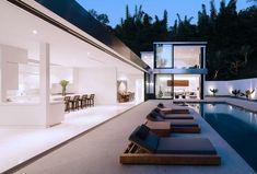 Modern House Design : Rising Glen Residence by Belzberg Architects