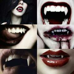 Queen of witches, vampire who feeds on blood of the dead as tribute to her lair. (Don't have blood offer something else) Vampire Love, Vampire Girls, Vampire Art, Maquillage Halloween, Halloween Face Makeup, Vampire Fangs, Vampires And Werewolves, Creatures Of The Night, Dark Beauty