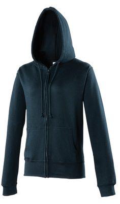 Zip-up Hoody Sports Jacket, Navy