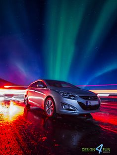 Hyundai - and aurora by Robert Alexandersen on Aurora, Lights, Beautiful Things, Car, Image, Amazing, Automobile, Northern Lights, Cars