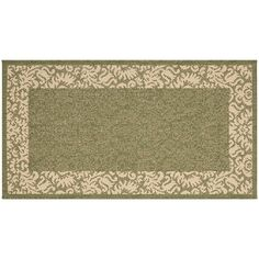 Safavieh Courtyard Floral Scroll Indoor Outdoor Rug, Green