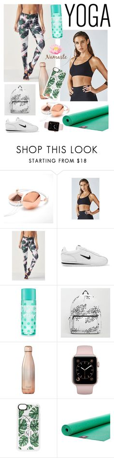 """""""#yoga"""" by taylor-anne-moore ❤ liked on Polyvore featuring Fabletics, NIKE, S'well, Casetify and Manduka"""