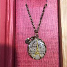 Dreaming Of Paris Vintage Style Pendant. Beautiful Vintage Paris Pendant in Keepsake Box Jewelry Necklaces