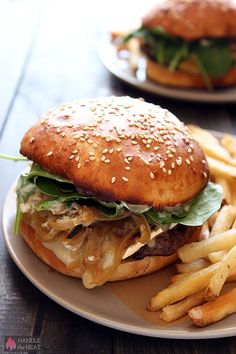 Melted brie, garlic mayo, and caramelized onions bring out the flavor in this burger. Get the recipe from Handle the Heat.   - CountryLiving.com
