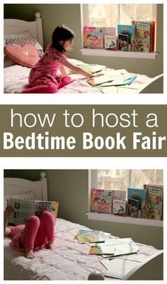Change-up your bedtime reading routine with a bedtime book fair! Click for details.