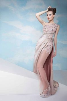 Gorgeous Evening Dresses for Spring/Summer 2014 by Tony Chaaya #MiddleEasternFashion