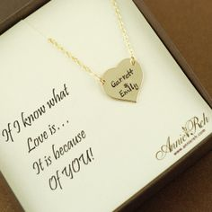 Love Message Card Hand Stamped Names by ArtisticCreations21, $56.00
