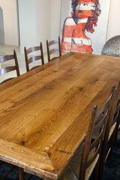 Spanish Panel Table - Tongue & Groove Top