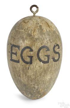 Painted Eggs trade sign, c., 5 h. Primitive Furniture, Primitive Antiques, Country Primitive, Primitive Bedroom, Primitive Homes, Antique Signs, Vintage Signs, Advertising Signs, Vintage Advertisements