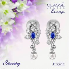 Stunning Earrings! 45 Days Return Policy | 0% Making charges Browse Earrings design @ classejewels.com Gold Diamond Earrings, Designer Earrings, Scarlet, Jewels, Collection, Jewerly, Scarlet Witch, Gemstones, Fine Jewelry