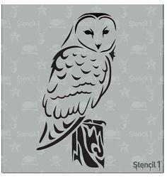 Stencil1® Barn Owl - Stencil 5.75 x 6