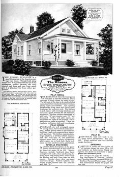 The 'Winona' Sears Kit Home; Plan B is wonderful