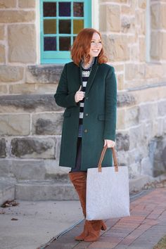 Cold weather is the worst, but at least I get to wear cute coats! This green trench is a favorite of mine and it's so versatile!