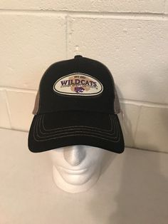 the latest 64fb0 a1511 Kansas State Wildcats Baseball Hat Black Tan Trucker Rackhat SnapBack New   eBay  Kansas State Wildcats